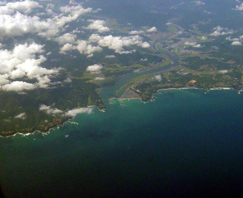 四万十川と土佐湾