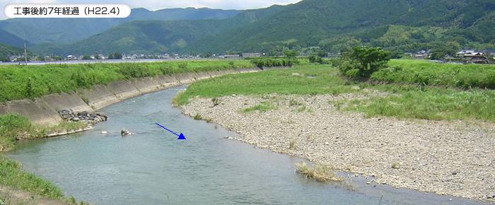 砂礫河川における二極化現象の改善